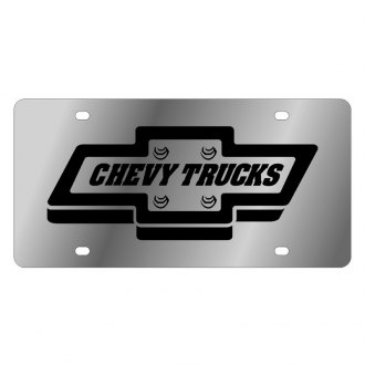 Eurosport Daytona® - GM License Plate with Style 2 Chevy Trucks Logo and Emblem