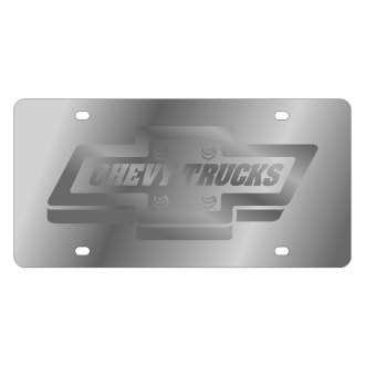 Eurosport Daytona® - GM License Plate with Silver Chevy Trucks Logo
