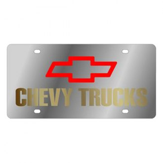 Eurosport Daytona® - GM License Plate with Gold Chevy Trucks Logo