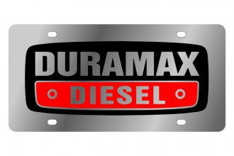 Eurosport Daytona® - Black Duramax Logo on Stainless Steel License Plate