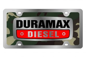 Eurosport Daytona® 1309SLD-3GC - GM Green Camouflage License Plate with Silver Duramax Logo