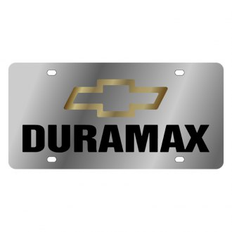 Eurosport Daytona® - GM License Plate with Black Duramax Logo