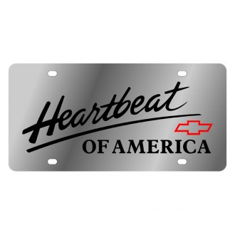 Eurosport Daytona® - GM License Plate with Black Heartbeat Logo