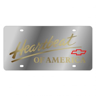 Eurosport Daytona® - GM License Plate with Gold Heartbeat Logo