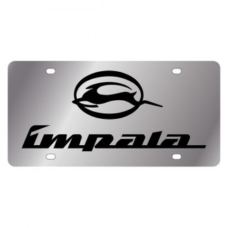 Eurosport Daytona® - GM License Plate with Black Impala Logo