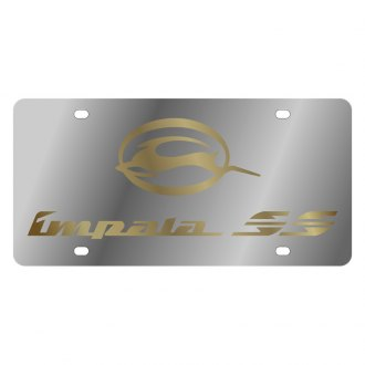 Eurosport Daytona® - GM License Plate with Gold Impala SS Logo