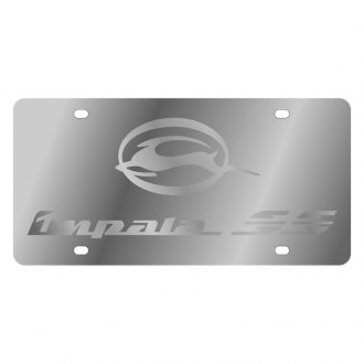 Eurosport Daytona® - GM License Plate with Silver Impala SS Logo