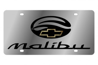 Eurosport Daytona® - GM License Plate with Black Malibu Logo