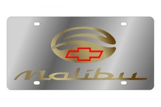 Eurosport Daytona® - GM License Plate with Gold Malibu Logo