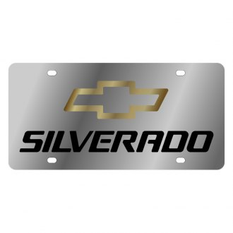 Eurosport Daytona® - GM License Plate with Black Silverado Logo