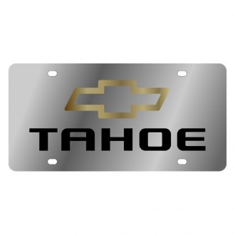 Eurosport Daytona® - GM License Plate with Black Tahoe Logo