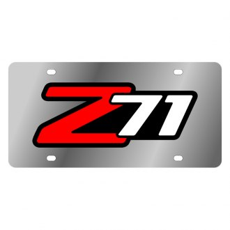 Eurosport Daytona® - GM License Plate with Silver Z71 Logo