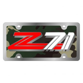 Eurosport Daytona® - GM Green Camouflage License Plate with Silver Z71 Logo