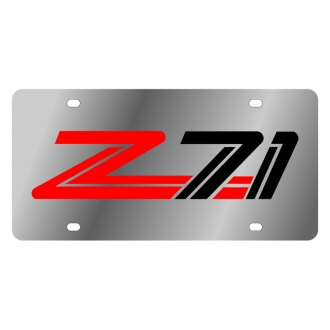 Eurosport Daytona® - GM License Plate with Black Z71 Logo