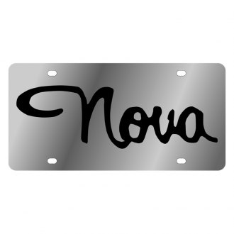 Eurosport Daytona® - GM License Plate with Black Chevrolet Nova Logo