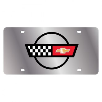 Eurosport Daytona® - GM License Plate with Corvette C4 Flags Logo