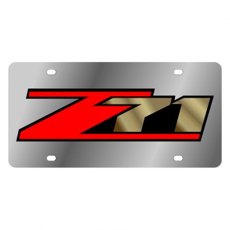 Eurosport Daytona® - GM License Plate with Gold Z-71 Logo