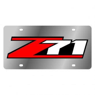 Eurosport Daytona® - GM License Plate with Silver Z-71 Logo
