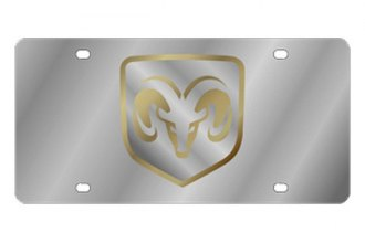 Eurosport Daytona® - MOPAR License Plate with Gold Ram framed Logo