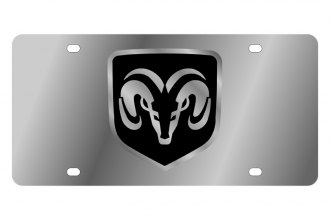 Eurosport Daytona® - MOPAR License Plate with Silver Ram framed Logo