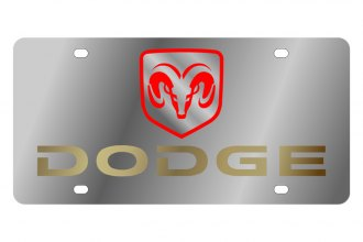 Eurosport Daytona® - MOPAR License Plate with Gold Dodge Logo