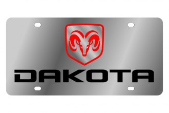 Eurosport Daytona® - MOPAR License Plate with Black Dakota Logo