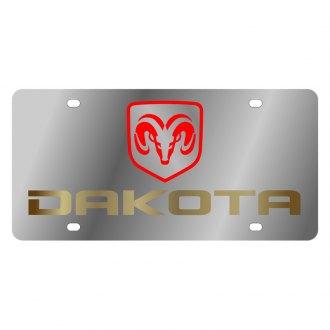 Eurosport Daytona® - MOPAR License Plate with Gold Dakota Logo