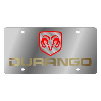 Eurosport Daytona® - MOPAR License Plate with Gold Durango Logo