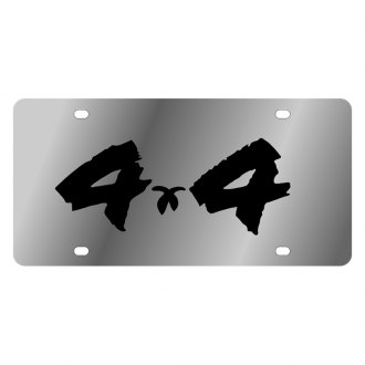 Eurosport Daytona® - MOPAR License Plate with Black 4x4 Brushed Logo