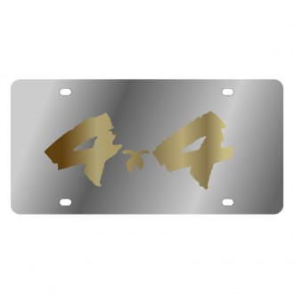 Eurosport Daytona® - MOPAR License Plate with Gold 4x4 Brushed Logo