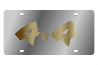 Eurosport Daytona® - Gold 4x4 Brushed Logo on Stainless Steel License Plate