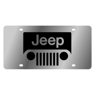 Eurosport Daytona® - MOPAR License Plate with Black New Jeep Grill Logo
