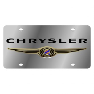 Eurosport Daytona® - MOPAR License Plate with Black Chrysler Logo