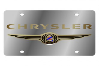 Eurosport Daytona® - MOPAR License Plate with Gold Chrysler Logo
