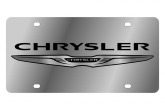 Eurosport Daytona® - Black Chrysler Logo on Stainless Steel License Plate