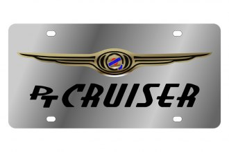Eurosport Daytona® - Black PT Cruiser Logo on Stainless Steel License Plate
