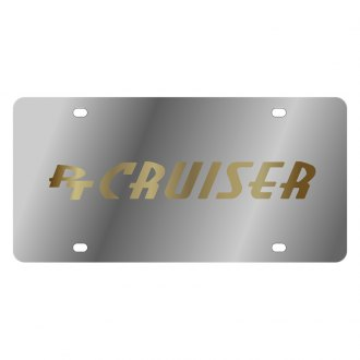 Eurosport Daytona® - MOPAR License Plate with Gold PT Cruiser Logo