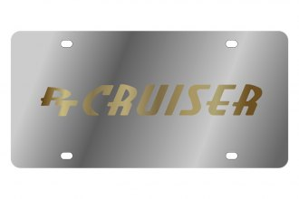 Eurosport Daytona® - Gold PT Cruiser Logo on Stainless Steel License Plate
