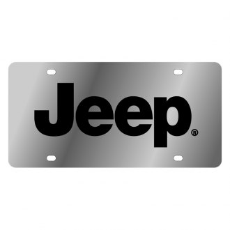 Eurosport Daytona® - MOPAR License Plate with Black Jeep Logo