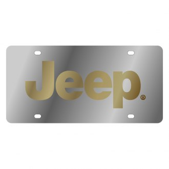 Eurosport Daytona® - MOPAR License Plate with Gold Jeep Logo