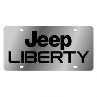 Eurosport Daytona® - MOPAR License Plate with Black Jeep Liberty Logo