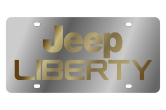Eurosport Daytona® - MOPAR License Plate with Gold Jeep Liberty Logo
