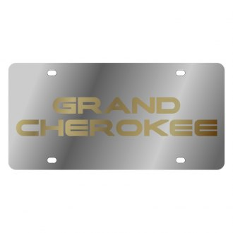 Eurosport Daytona® - MOPAR License Plate with Gold Grand Cherokee Logo
