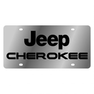 Eurosport Daytona® - MOPAR License Plate with Black Cherokee Logo