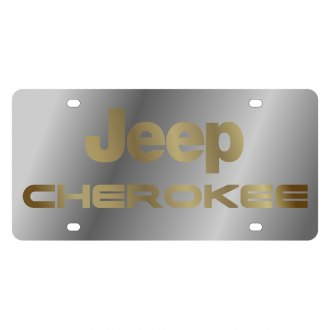 Eurosport Daytona® - MOPAR License Plate with Gold Cherokee Logo