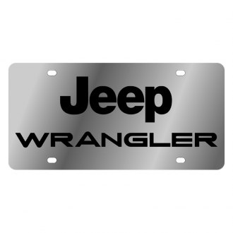 Eurosport Daytona® - MOPAR License Plate with Black Wrangler Logo