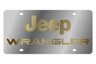 Eurosport Daytona® - MOPAR License Plate with Gold Wrangler Logo