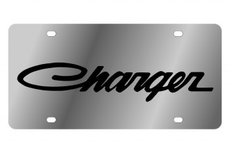 Eurosport Daytona® - MOPAR License Plate with Black Charger Logo