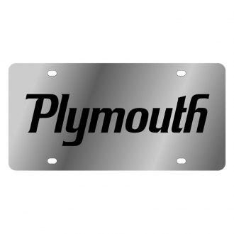 Eurosport Daytona® - MOPAR License Plate with Black Plymouth Logo