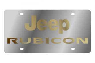 Eurosport Daytona® - MOPAR License Plate with Gold Rubicon Logo